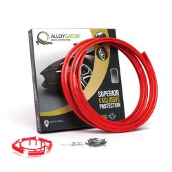 Set of 4 AlloyGator alloy wheel rim protectors - red
