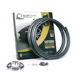 Set of 4 AlloyGator alloy wheel rim protectors - graphite